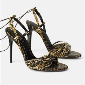 Zara Snake Heels